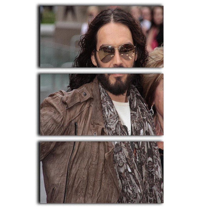 Russell Brand 3 Split Panel Canvas Print - Canvas Art Rocks - 1