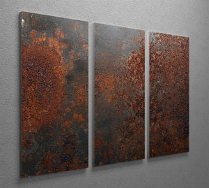 Rusted metal background 3 Split Panel Canvas Print - Canvas Art Rocks - 2