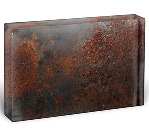 Rusted metal background Acrylic Block - Canvas Art Rocks - 1