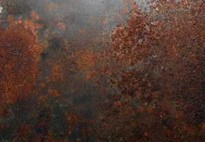 Rusted metal background Wall Mural Wallpaper - Canvas Art Rocks - 1