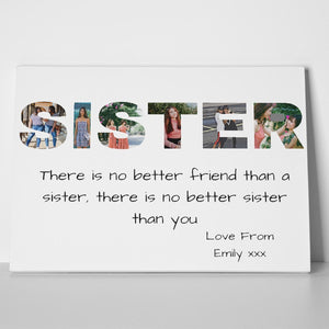Sister Photo Canvas Print