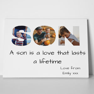 Son Photo Canvas Print