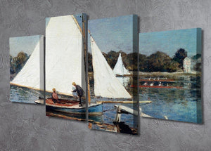 Sailing At Argenteuil 2 by Monet 4 Split Panel Canvas - Canvas Art Rocks - 2