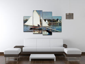Sailing At Argenteuil 2 by Monet 4 Split Panel Canvas - Canvas Art Rocks - 3