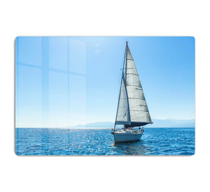 Sailing ship yachts with white sails HD Metal Print