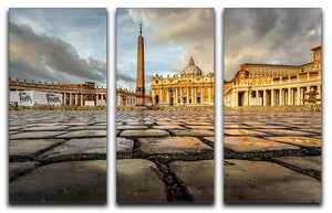 Saint Peter Basilica in the Morning 3 Split Panel Canvas Print - Canvas Art Rocks - 1