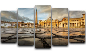Saint Peter Basilica in the Morning 5 Split Panel Canvas  - Canvas Art Rocks - 1
