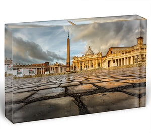 Saint Peter Basilica in the Morning Acrylic Block - Canvas Art Rocks - 1
