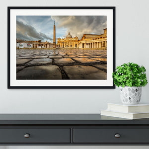 Saint Peter Basilica in the Morning Framed Print - Canvas Art Rocks - 1