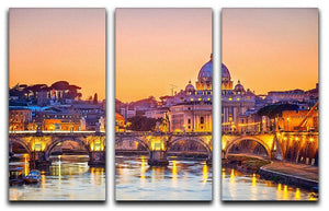 Saint Peter cathedral at night 3 Split Panel Canvas Print - Canvas Art Rocks - 1