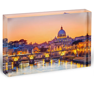 Saint Peter cathedral at night Acrylic Block - Canvas Art Rocks - 1
