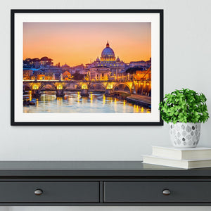 Saint Peter cathedral at night Framed Print - Canvas Art Rocks - 1