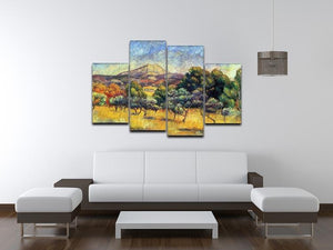 Sainte Vicoria Mountain by Renoir 4 Split Panel Canvas - Canvas Art Rocks - 3