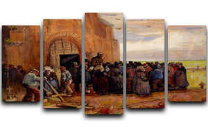 Sale of Building Scrap by Van Gogh 5 Split Panel Canvas  - Canvas Art Rocks - 1