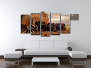 Sale of Building Scrap by Van Gogh 5 Split Panel Canvas - Canvas Art Rocks - 3