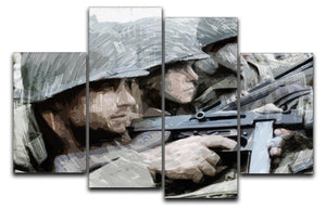 Saving Private Ryan 4 Split Panel Canvas  - Canvas Art Rocks - 1