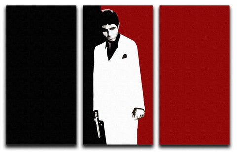 Scarface Movie Poster 3 Split Canvas Print - They'll Love Wall Art
