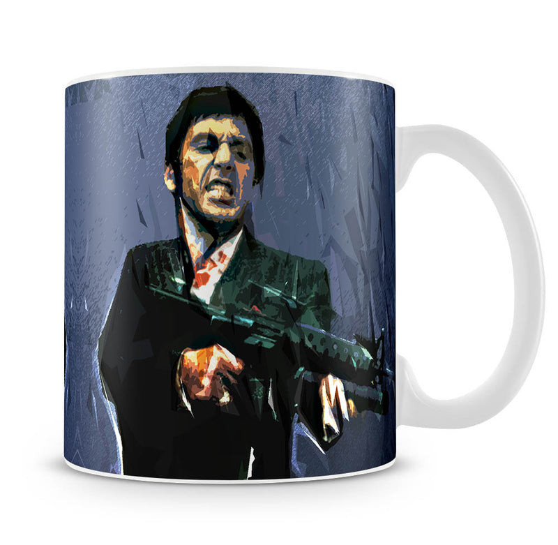 Scarface Machine Gun Mug - Canvas Art Rocks
