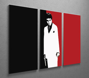 Scarface Movie Art Poster 3 Split Canvas Print