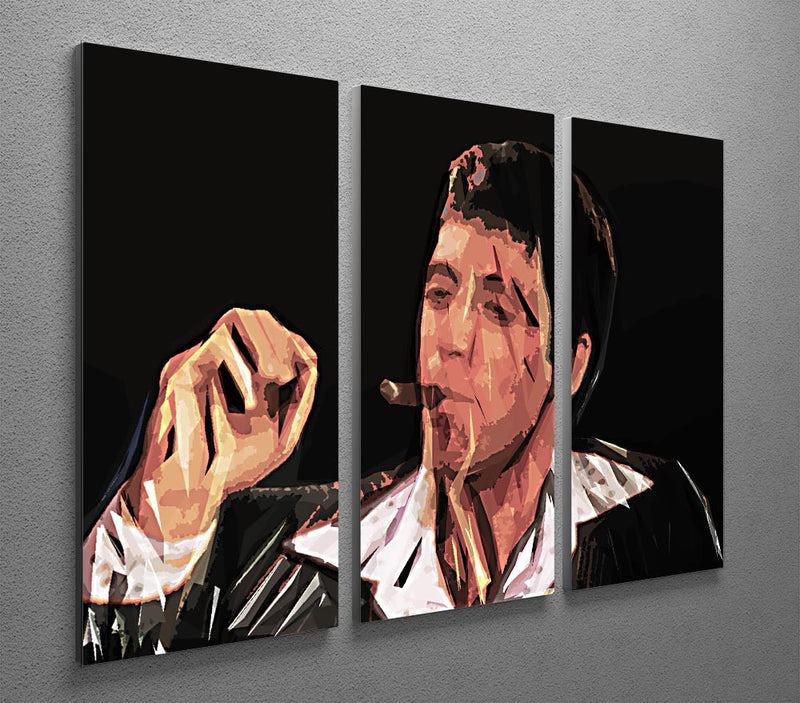 Scarface Smoking Cigar 3 Split Canvas Print
