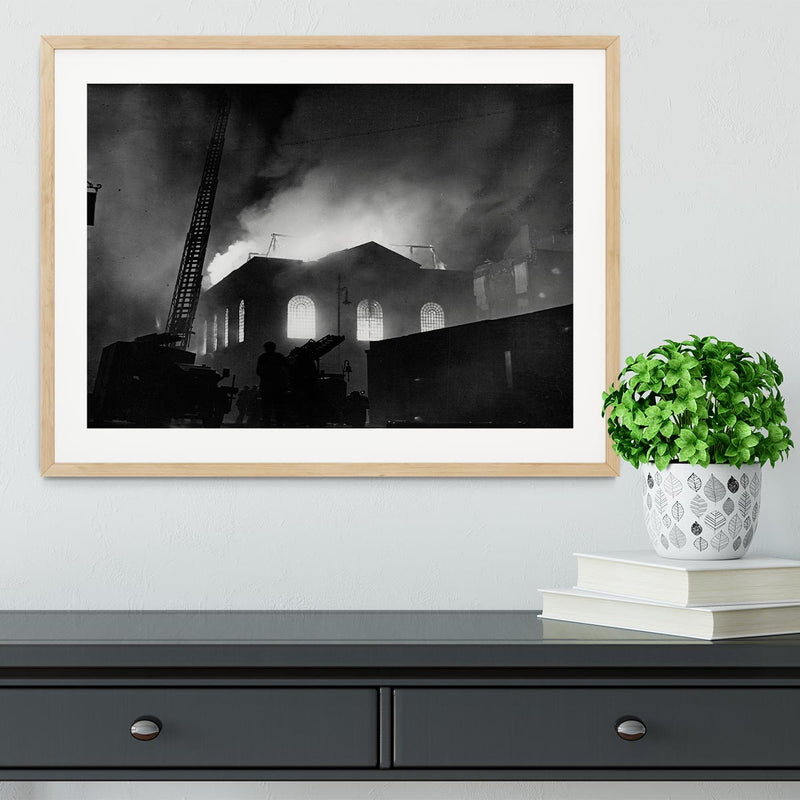 School ablaze Hatton Garden London Framed Print - Canvas Art Rocks - 3