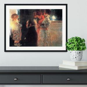 Schubert at the piano by Klimt Framed Print - Canvas Art Rocks - 1