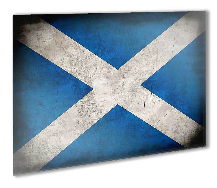 Scotland Scottish Flag Metal License Plate Wall Sign