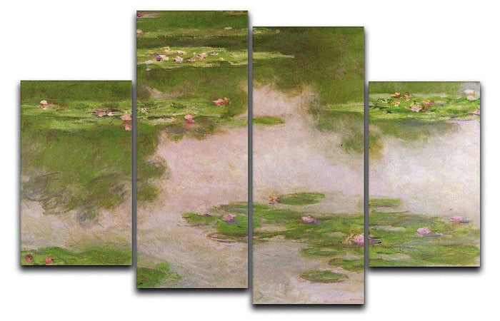 Sea roses 2 by Monet 4 Split Panel Canvas