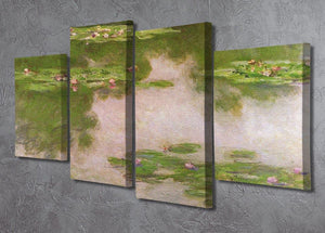 Sea roses 2 by Monet 4 Split Panel Canvas - Canvas Art Rocks - 2