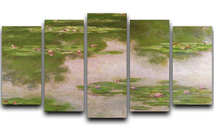 Sea roses 2 by Monet 5 Split Panel Canvas