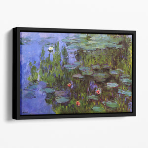 Sea roses by Monet Floating Framed Canvas