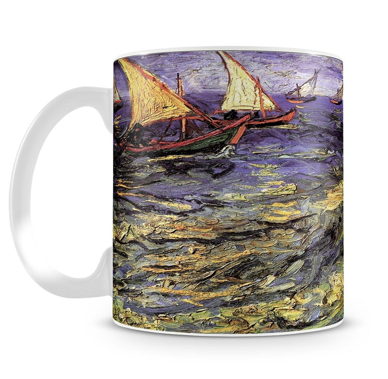 Seascape at Saintes-Maries by Van Gogh Mug - Canvas Art Rocks - 4