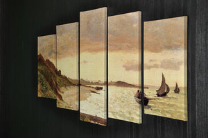 Seaside at Sainte Adresse by Monet 5 Split Panel Canvas - Canvas Art Rocks - 2