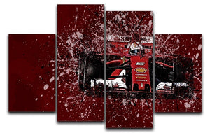 Sebastian Vettel F1 Paint Splatter 4 Split Panel Canvas  - Canvas Art Rocks - 1