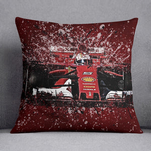 Sebastian Vettel F1 Paint Splatter Cushion