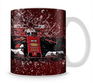 Sebastian Vettel F1 Paint Splatter Mug - Canvas Art Rocks - 1