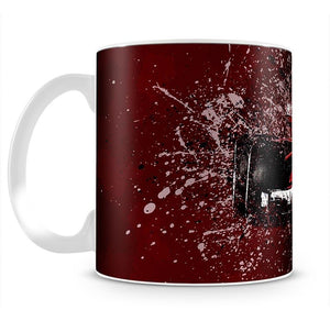 Sebastian Vettel F1 Paint Splatter Mug - Canvas Art Rocks - 2