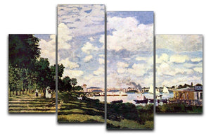 Seine basin near Argenteuil by Monet 4 Split Panel Canvas  - Canvas Art Rocks - 1