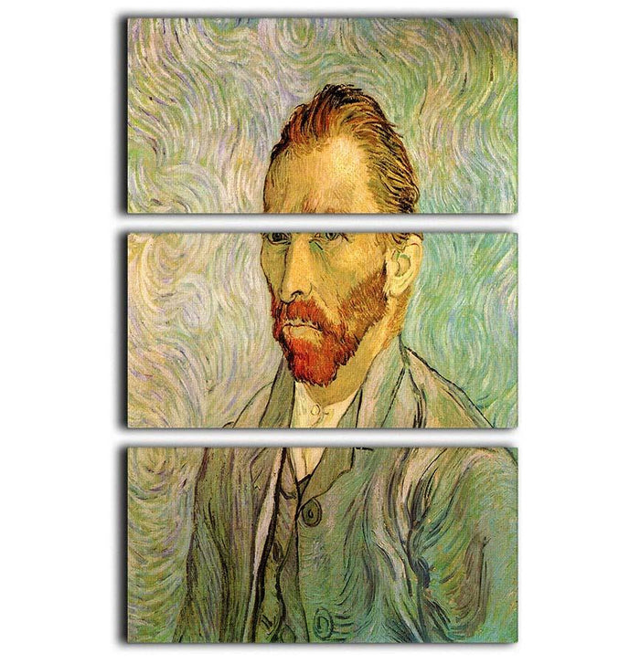 Self-Portrait 2 by Van Gogh 3 Split Panel Canvas Print