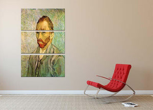 Self-Portrait 2 by Van Gogh 3 Split Panel Canvas Print - Canvas Art Rocks - 2