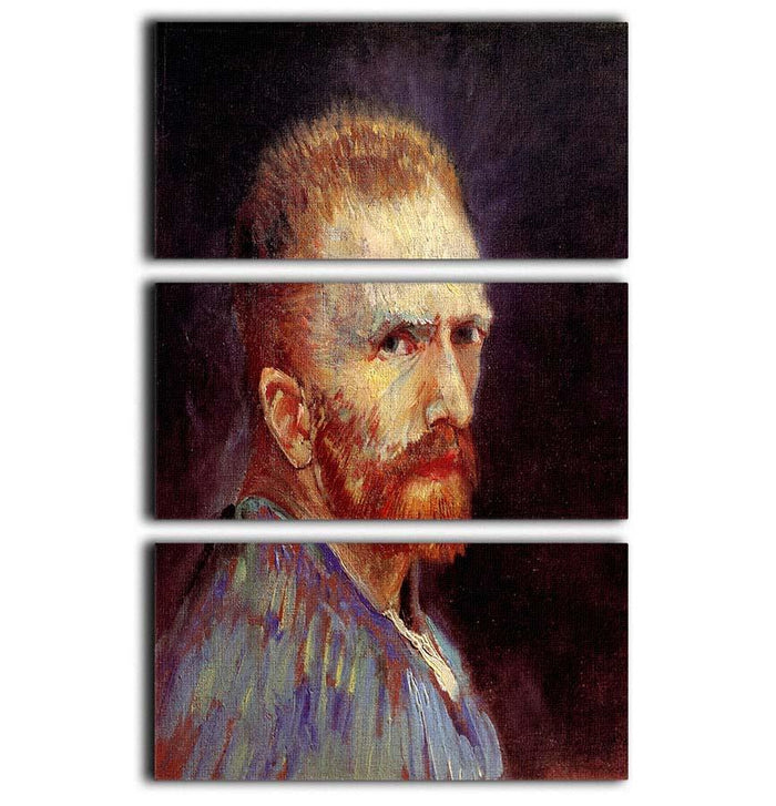Self-Portrait 9 by Van Gogh 3 Split Panel Canvas Print