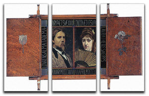 Self portrait by Lawrence Alma Tadema and Laura Theresa Epps by Alma Tadema 3 Split Panel Canvas Print - Canvas Art Rocks - 1