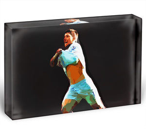 Sergio Aguero Acrylic Block - Canvas Art Rocks - 1
