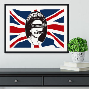 Sex Pistols God Save The Queen Framed Print - Canvas Art Rocks - 1