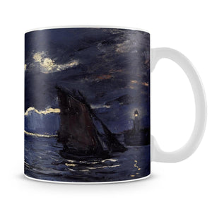 Shipping by Moonlight by Monet Mug - Canvas Art Rocks - 4