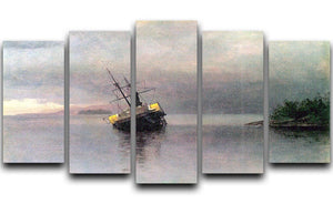 Shipwreck in Loring bay Alaska by Bierstadt 5 Split Panel Canvas - Canvas Art Rocks - 1