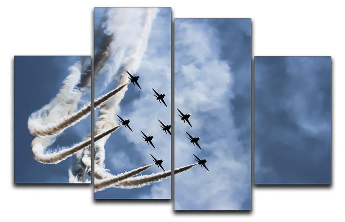 Show of force jets 4 Split Panel Canvas