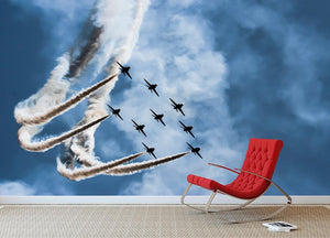 Show of force jets Wall Mural Wallpaper - Canvas Art Rocks - 2