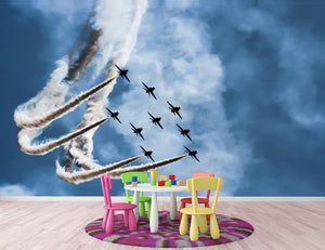 Show of force jets Wall Mural Wallpaper - Canvas Art Rocks - 3