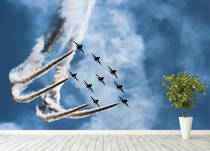 Show of force jets Wall Mural Wallpaper - Canvas Art Rocks - 4